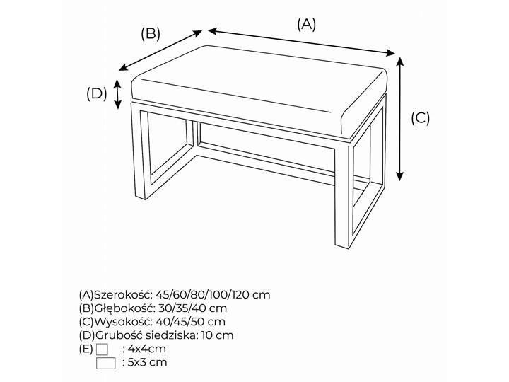 Ławka Tapicerowana Industrialna CLASSIC STYLE - LOFT Materiał obicia Tkanina Pomieszczenie Przedpokój