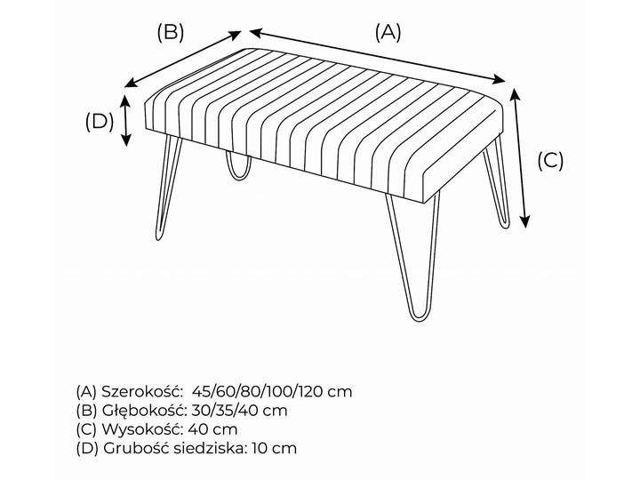 Ławka Tapicerowana Industrialna PIN ORION - LOFT Pikowana Styl Minimalistyczny