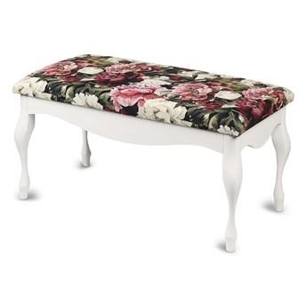 Ławka drewniana z tapicerowanym siedziskiem - Style White