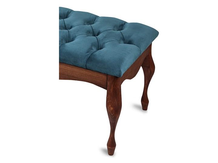 Ławka drewniana z pikowanym siedziskiem - Loren Pikowana Materiał nóżek Drewno Kolor