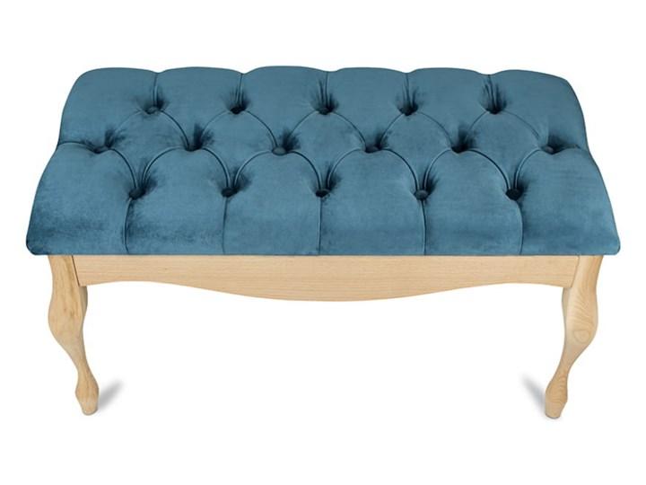 Ławka drewniana z pikowanym siedziskiem - Loren Pikowana Kategoria Ławki do salonu Kolor