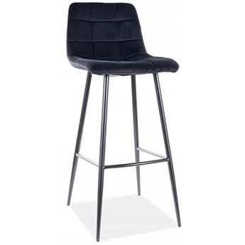 Hoker Krzesło Barowe MILA H1 Czarny Velvet Loft