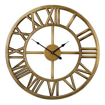 Zegar ścienny złoty żelazny rzymskie cyfry Ø 61 cm nowoczesny design