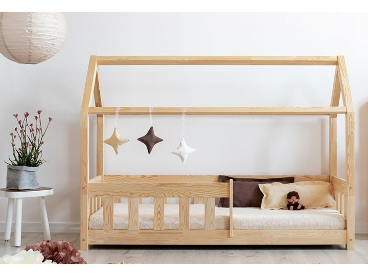 Drewniane łóżko dziecięce domek - Rikko