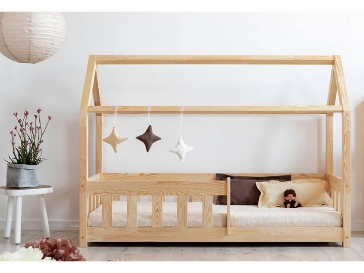 Drewniane łóżko dziecięce domek - Rikko Drewno Domki Płyta MDF Rozmiar materaca 80x160 cm