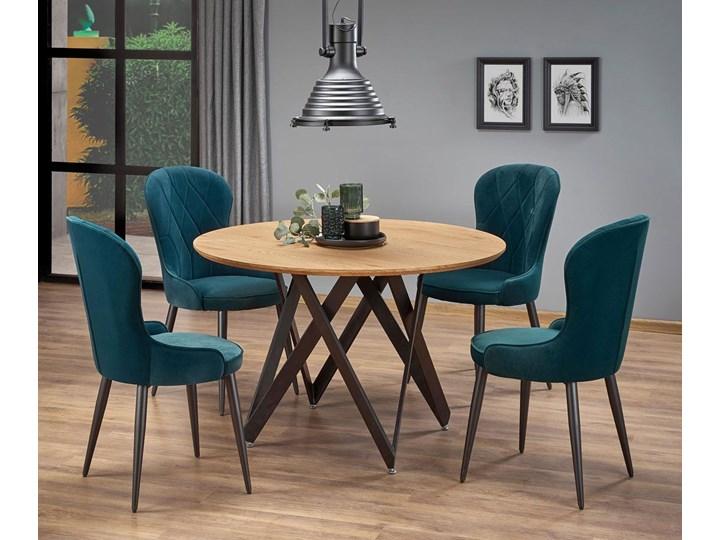 Stół okrągły loftowy Zordo - dąb Wysokość 75 cm Długość 120 cm  Kategoria Stoły kuchenne Drewno Styl Industrialny