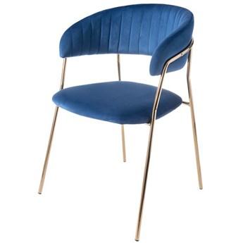 Aria krzesło taicerowane niebieskie -  welur