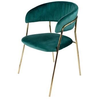 Aria krzesło tapicerowane zielone - welur