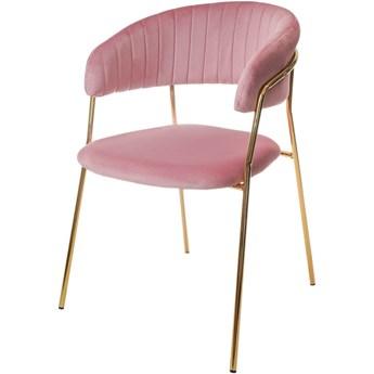 Aria krzesło tapicerowane róż - welur