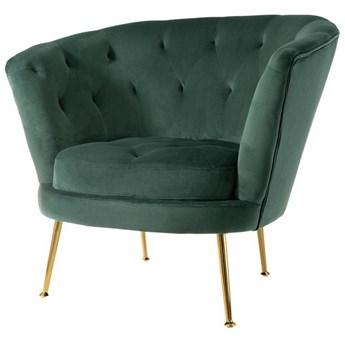 Leia fotel zielony tapicerowany - welur