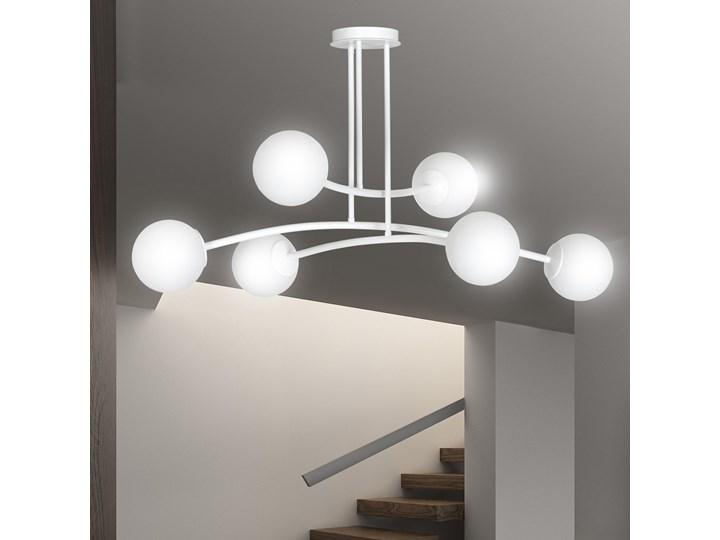 HALLDOR 6 WHITE 1025/6 oryginalna lampa sufitowa biała LOFT szklane mleczne klosze Szkło Metal Lampa z kloszem Pomieszczenie Salon Funkcje Brak dodatkowych funkcji