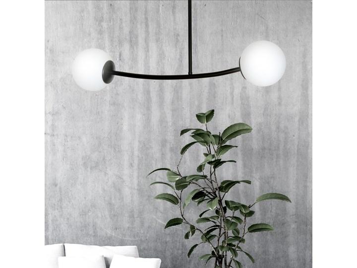 HALLDOR 2 BLACK 1024/2 oryginalna lampa sufitowa czarna LOFT szklane mleczne klosze Szkło Lampa z kloszem Metal Kolor Czarny