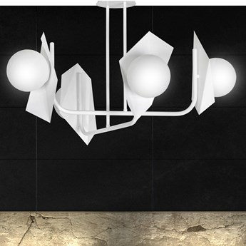 THORD 4 WHITE 1027/4 lampa sufitowa loft oryginalny DESIGN biała klosze