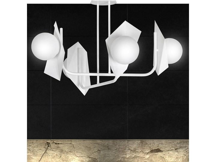 THORD 4 WHITE 1027/4 lampa sufitowa loft oryginalny DESIGN biała klosze Szkło Pomieszczenie Sypialnia Lampa z kloszem Metal Styl Industrialny