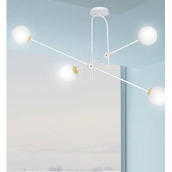 DIARF 4 WHITE GOLD 1013/4 lampa sufitowa plafon regulacja biała złota DESIGN