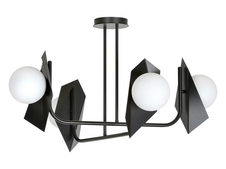 THORD 4 BLACK 1026/4 lampa sufitowa loft oryginalny DESIGN czarna klosze Metal Szkło Lampa z kloszem Styl Nowoczesny