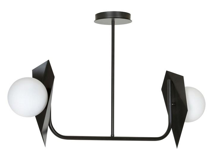 THORD 2 BLACK 1026/2 lampa sufitowa loft oryginalny DESIGN czarna klosze Szkło Metal Lampa z kloszem Styl Klasyczny
