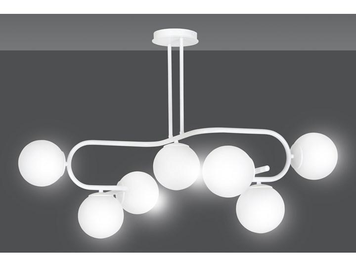 RAGI 7 WHITE 1029/7 duża lampa sufitowa plafon do salonu klosze kule DESIGN Metal Lampa z kloszem Styl Nowoczesny Szkło Funkcje Brak dodatkowych funkcji