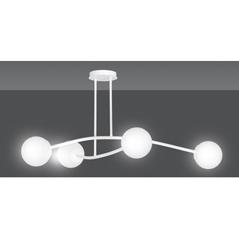 HALLDOR 4 WHITE 1024/4 oryginalna lampa sufitowa biała LOFT szklane mleczne klosze