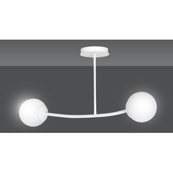 HALLDOR 2 WHITE 1025/2 oryginalna lampa sufitowa biała LOFT szklane mleczne klosze