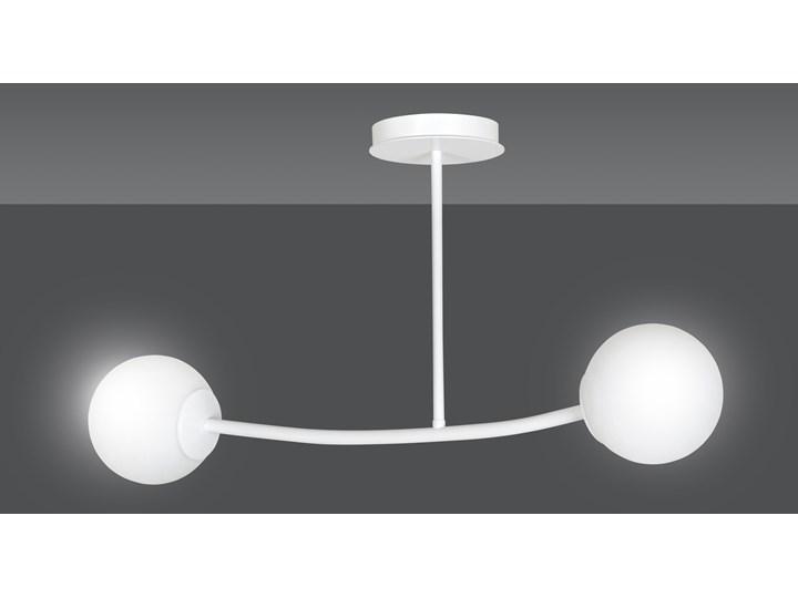 HALLDOR 2 WHITE 1025/2 oryginalna lampa sufitowa biała LOFT szklane mleczne klosze Lampa z kloszem Metal Szkło Pomieszczenie Sypialnia