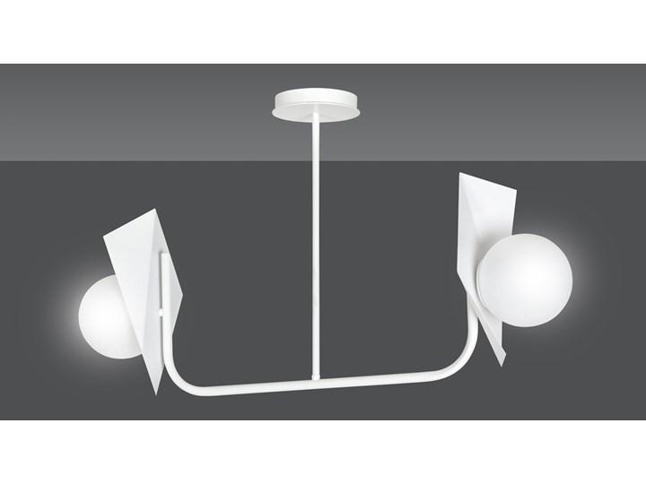 THORD 2 WHITE 1027/2 lampa sufitowa loft oryginalny DESIGN biała klosze Szkło Metal Lampa z kloszem Kolor Biały