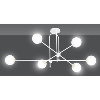 DIARF 6 WHITE GOLD 1013/6 lampa sufitowa plafon biała złota DESIGN