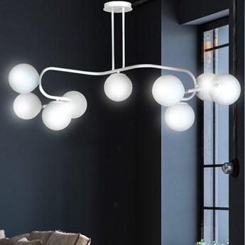 RAGI 9 WHITE 1029/9 duża lampa sufitowa plafon do salonu klosze kule DESIGN
