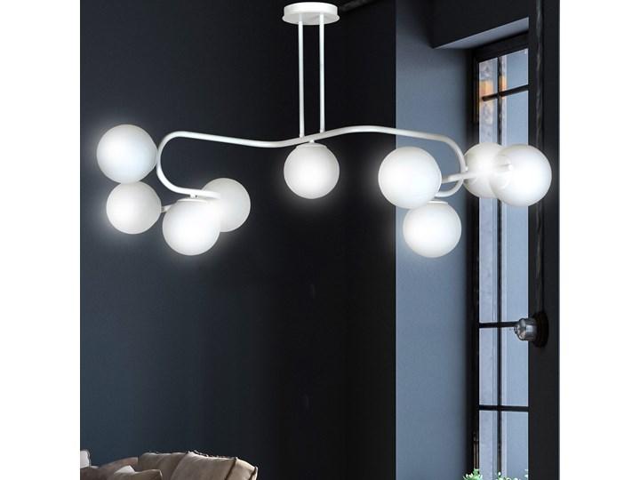 RAGI 9 WHITE 1029/9 duża lampa sufitowa plafon do salonu klosze kule DESIGN Lampa z kloszem Metal Szkło Pomieszczenie Sypialnia Kolor Biały
