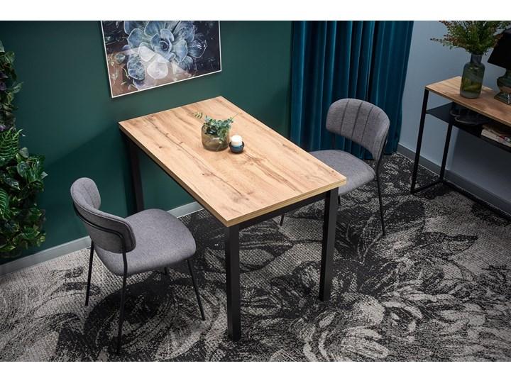Nierozkładany stół w stylu industrialnym Cobalt Szerokość 120 cm Drewno Długość 120 cm  Wysokość 120 cm Rozkładanie Wysokość 77 cm Metal Kategoria Stoły kuchenne