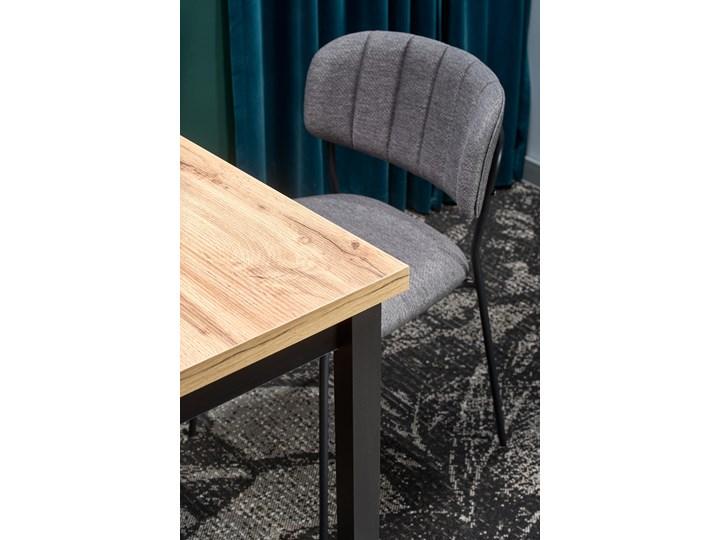 Nierozkładany stół w stylu industrialnym Cobalt Metal Wysokość 120 cm Szerokość 120 cm Drewno Długość 120 cm  Wysokość 77 cm Kolor Beżowy