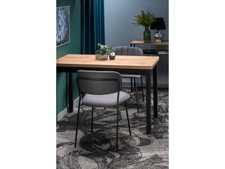 Nierozkładany stół w stylu industrialnym Cobalt Drewno Metal Szerokość 120 cm Długość 120 cm  Kolor Beżowy Wysokość 77 cm Wysokość 120 cm Rozkładanie