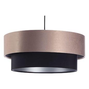 Lampa satynowa Fiona beżowo-czarna 40cm