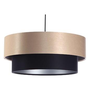 Lampa satynowa Fiona kremowo-czarna 40cm
