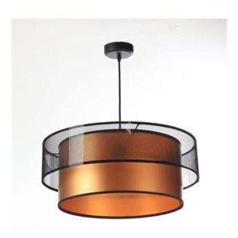 Lampa wisząca Fiona Primo czarno-miedziana 40cm