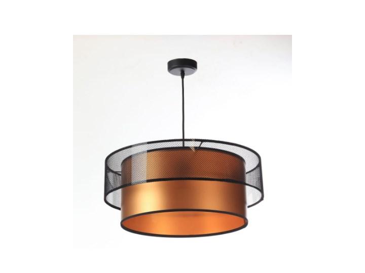 Lampa wisząca Fiona Primo czarno-miedziana 40cm Ilość źródeł światła 1 źródło Metal Lampa z abażurem Kolor Czarny