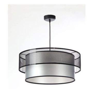 Lampa wisząca Fiona Primo czarno-srebrna 40cm