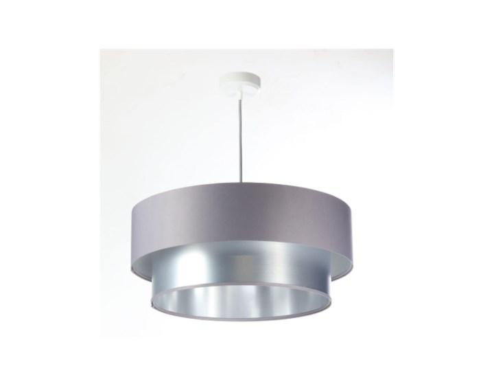 Lampa wisząca Fiona New szaro-srebrna 40cm Lampa z abażurem Styl Nowoczesny