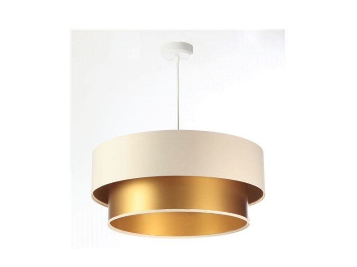 Lampa wisząca Fiona New kremowo-złota 40cm
