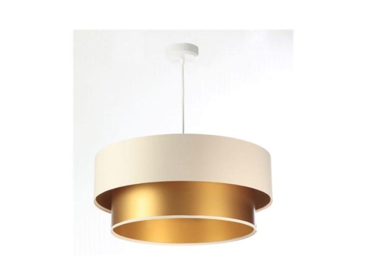 Lampa wisząca Fiona New kremowo-złota 40cm Kolor Beżowy Lampa z abażurem Funkcje Brak dodatkowych funkcji