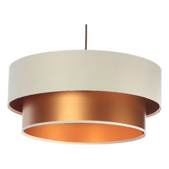 Lampa wisząca Fiona New kremowo-miedziana 40cm