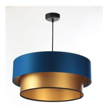 Lampa wisząca Fiona New granatowo-złota 40cm