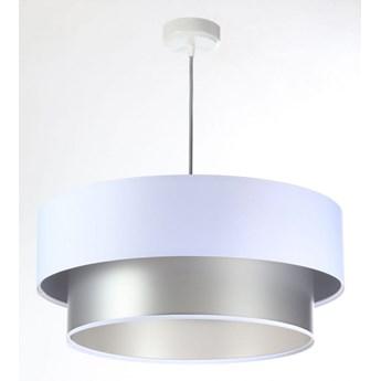 Lampa Wisząca Fiona New Biało-srebrna 40cm