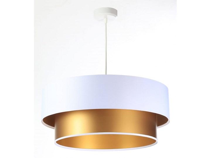 Lampa Wisząca Fiona New Biało-złota 40cm Lampa z abażurem Funkcje Brak dodatkowych funkcji Ilość źródeł światła 1 źródło
