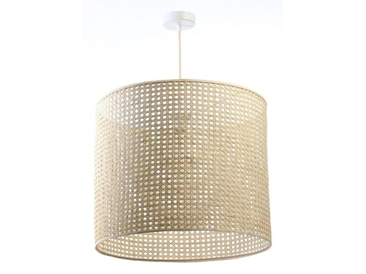 Lampa Wisząca BOHO Rattan XL Lampa z abażurem Wiklina Drewno Tkanina Ilość źródeł światła 1 źródło Styl Nowoczesny