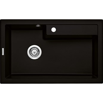 Deante Eridan zlewozmywak granitowy 80x50 cm czarny mat ZQE N10B