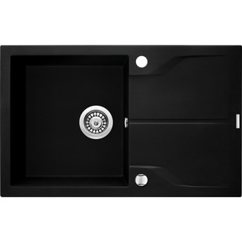 Deante Andante Flush zlewozmywak granitowy 78x49 cm czarny ZQN N11F