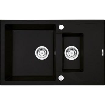 Deante Andante zlewozmywak granitowy 78x49 cm odwracalny czarny ZQN N513