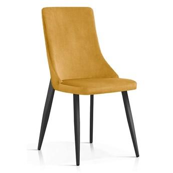 Krzesło Elza miodowy aksamit / CZARNE