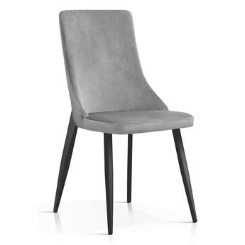 Krzesło Elza szare aksamit / CZARNE